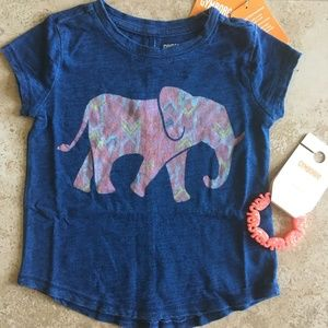 """SUNWASHED DAYS"" Elephant Tee w/ matching Bracelet"